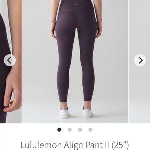 LULULEMON Align II leggings.
